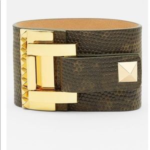 Vince Camuto studded wide leather wrap bracelet